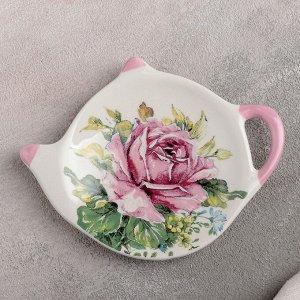 Подставка под чайный пакетик Доляна «Роза», 12?8,4 см