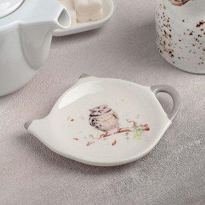 Подставка под чайный пакетик Доляна «Совушка», 12Х8,4 см