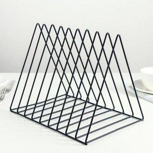 Подставка под разделочные доски Доляна «Лофт», цвет чёрный