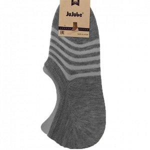 Мужские носки-подследники JuJube графитового цвета в полосочку (ниже косточки). Размер 41-47.