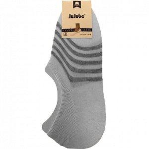 Мужские носки-подследники JuJube белого цвета в полосочку (ниже косточки). Размер 41-47.