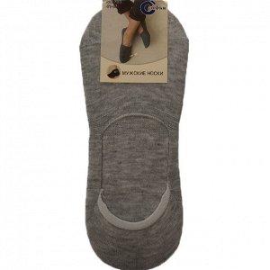 Мужские носки-подследники Sofia серого цвета (ниже косточки). Размер 41-47.