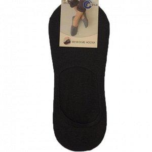 Мужские носки-подследники Sofia чёрного цвета (ниже косточки). Размер 41-47.