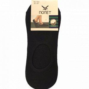 Мужские носки-подследники Polet чёрного цвета (ниже косточки). Размер 41-47.