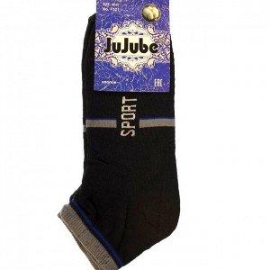 Мужские носки Sport чёрного цвета (выше косточки). Размер 40-47.