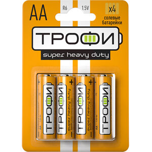 Батарейки ТРОФИ R6-4BL