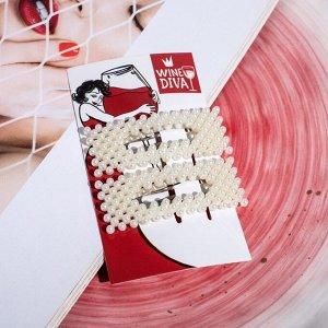 Набор аксессуаров для волос на открытке Wine diva 6,5х11 см 4775559