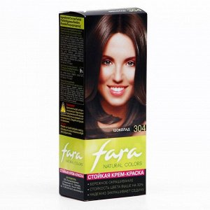 Краска для волос Fara Natural Colors, тон 304, шоколад, 135 мл