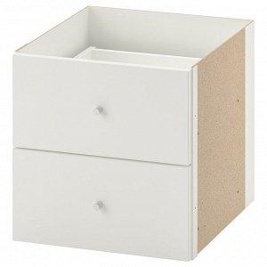 КАЛЛАКС Вставка с 2 ящиками, белый33x33 см