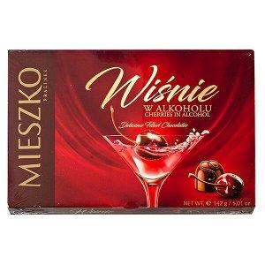 Конфеты MIESZKO CHERRIES in ALCOHOL  вишня алкоголе 142гр