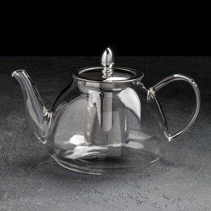Чайник заварочный «Жак», 1,3 л, с металлическим ситом