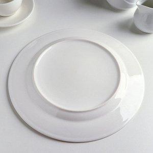 Набор для торта «Марбл», 8 предметов: большая тарелка 27 см, 6 десертных 19 см, лопатка