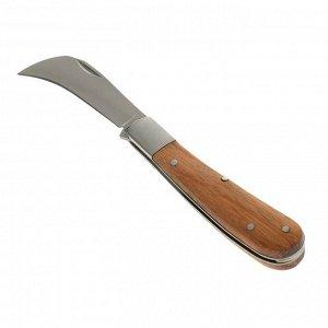 Нож садовый, складной, длина 16,5 см, лезвие 7 см, пластиковая ручка