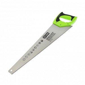 Ножовка по дереву ON 03-01-104, двусторонняя заточка, закаленный зуб, 500 мм