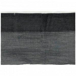 Сетка защитная, 6 ? 50 м, плотность 120 г/м?, с усиленным краем - 6 см, чёрная