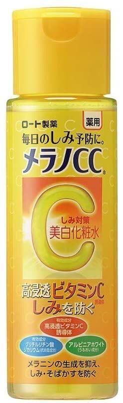 Rohto Melano CC  Whitening Lotion Toner - отбеливающий и осветляющий кожу тонер с витаминами С и Е,170ml