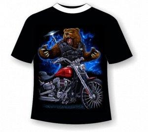 Футболка Медведь на мотоцикле 939