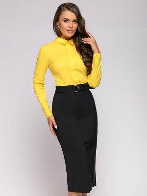 Рубашка желтая с отложным воротником