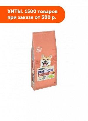 Dog Chow Sensitive сухой корм для собак с чувствительным пищеварением Лосось 14кг АКЦИЯ!