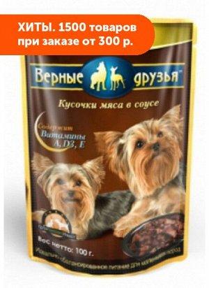 Верные друзья влажный корм для собак мелких пород Мясное ассорти 100гр пауч