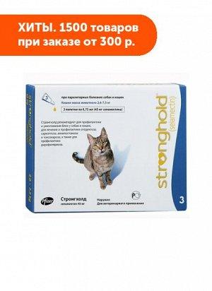 Stronghold 45мг капли для кошек отблох, кщей и гельминтов 0,75мл 1 пипетка