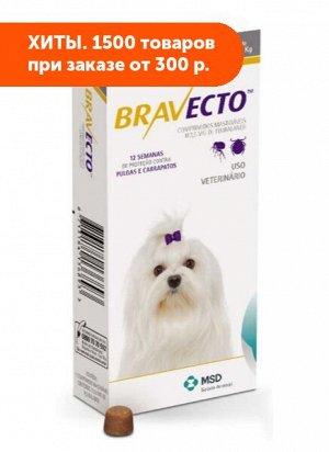 Бравекто жевательные таблетки для собак 2-4,5кг для лечения и профилактики афаниптероза, а также акарозов 112,5 мг 1 таблетка