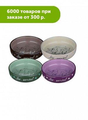 Миска керамика для коротконосых пород 0,3/ф15см