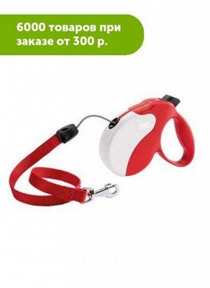 Рулетка AMIGO LONG (шнур), красно-белая