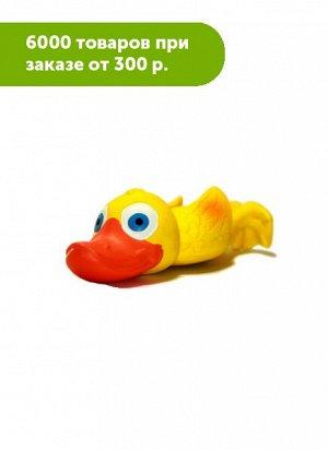 Игрушка для собак Утенок с пищалкой латекс 22см