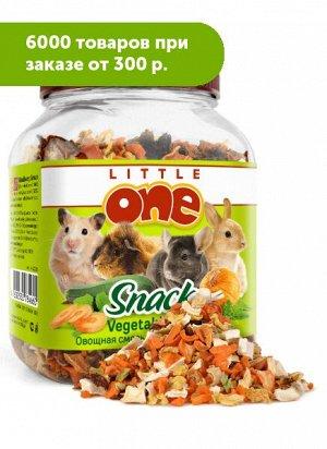 Little One лакомство для грызунов Овощная смесь 150г Банка