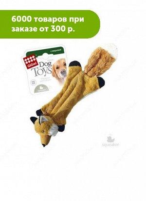 GiGwi Шкурка лисы с пищалкой/ткань,пластик 41см