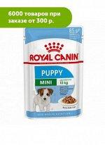 Royal Canin Mini Puppy влажный корм для щенков мелких пород 85гр соус пауч