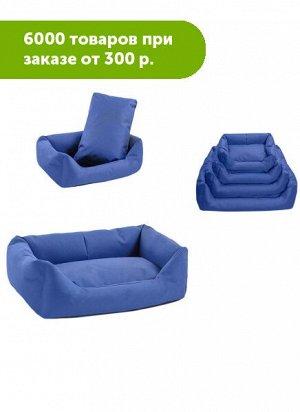 Лежак прямоугольный Дарэлл-Оксфорд 45*33*15см синий, нейлон+синтепух