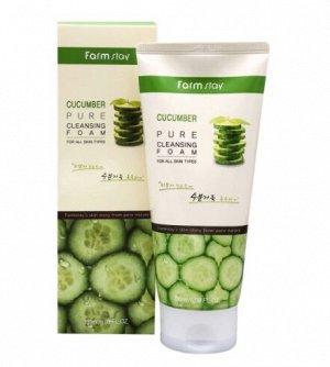 FarmStay Пенка для умывания с экстрактом огурца  Cucumber pure cleansing foam, 180мл