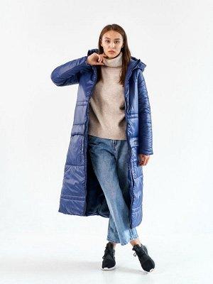 Пальто еврозима Макси синий