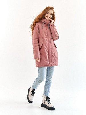 Парка Харди серо-розовый