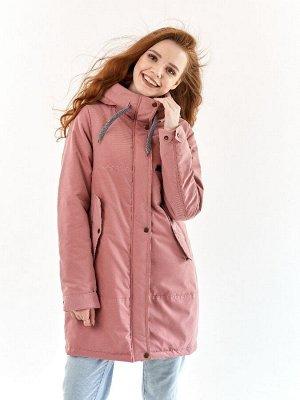 Парка Харди серо-розовый(t до -5)