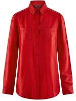 Блузка базовая из вискозы с карманами