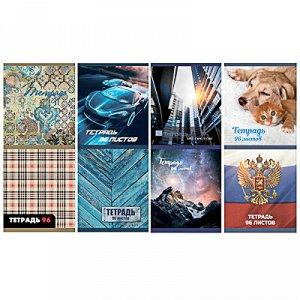 ClipStudio Тетрадь общая, 96 листов, в клетку, блок №2, обложка - картон, скрепка, 8 дизайнов