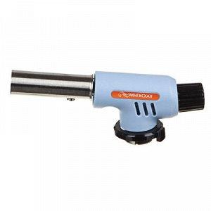 Горелка газовая чингисхан с пьезорозжигом, цанговый захват, широкое сопло; 15х4х5, 5см