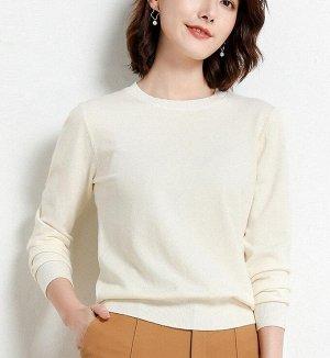 Женский пуловер айвори