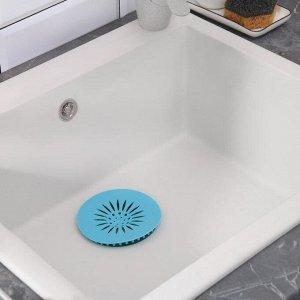 Фильтр для раковины d=13 см, силикон, цвет белый