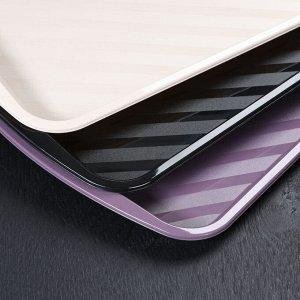 Поднос для сервиса «Кристальный», 36,5?26 см, цвет МИКС