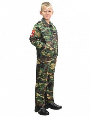 Костюм Кадет-старшеклассник тк.Могилёв цв.Зеленый КМФ