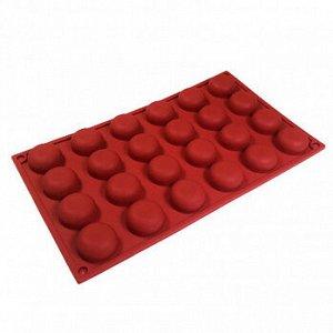 Форма силиконовая Помпонетка, 24 ячейки