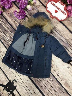 Куртка Хорошее качество ,мех отстегивается .Температура до -30 гр.В размер ,холофайбер 350грамм