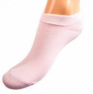"""Носки женские ультра-короткие CINEMA """"однотонные"""" 1-4ЛК ,светло-розовый"""