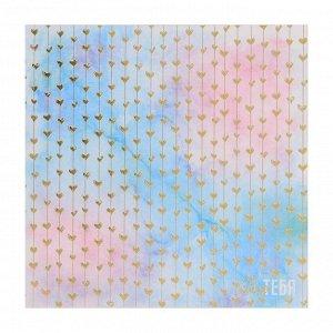 Набор бумаги для скрапбукинга с фольгированием «Прекрасное время», 10 листов 15.5 ? 15.5 см, 250 г/м