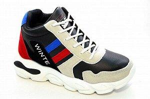 Кроссовки F972-4 черн/сер/красн