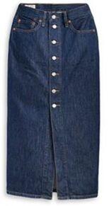 Юбка джинсовая LEVIS лето 2021 Button Front Midi Skirt